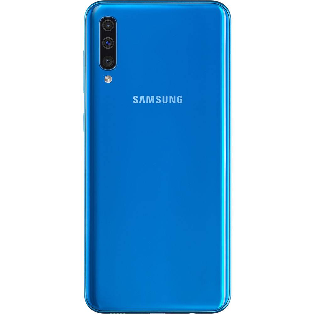 "Smartphone Samsung Galaxy A50 64GB Dual Chip Tela 6,4"" Câmera Tripla 25MP + 5MP + 8MP Octa-Core 4G Android 9.0 - Azul"