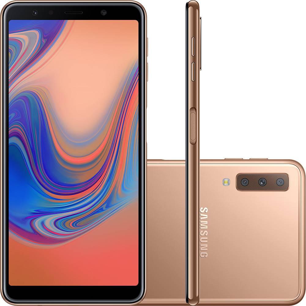 "Smartphone Samsung Galaxy A7 64GB Dual Chip Android 8.0 Tela 6"" Octa-Core 2.2GHz 4G Câmera Triple - Cobre"