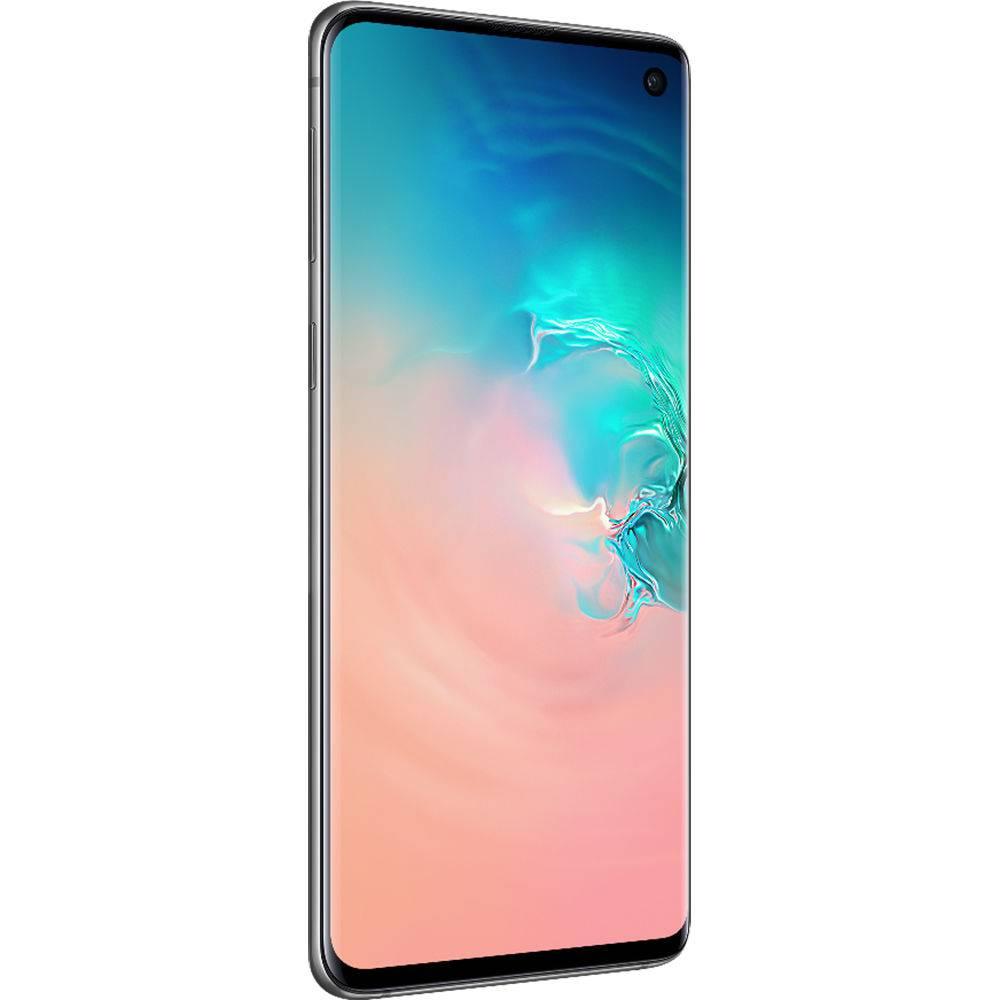 "Smartphone Samsung Galaxy S10 128GB Dual Chip 8GB Ram Android Tela 6.1"" Octa-Core 4G Câmera Tripla Traseira 12MP + 12MP + 16MP - Branco"