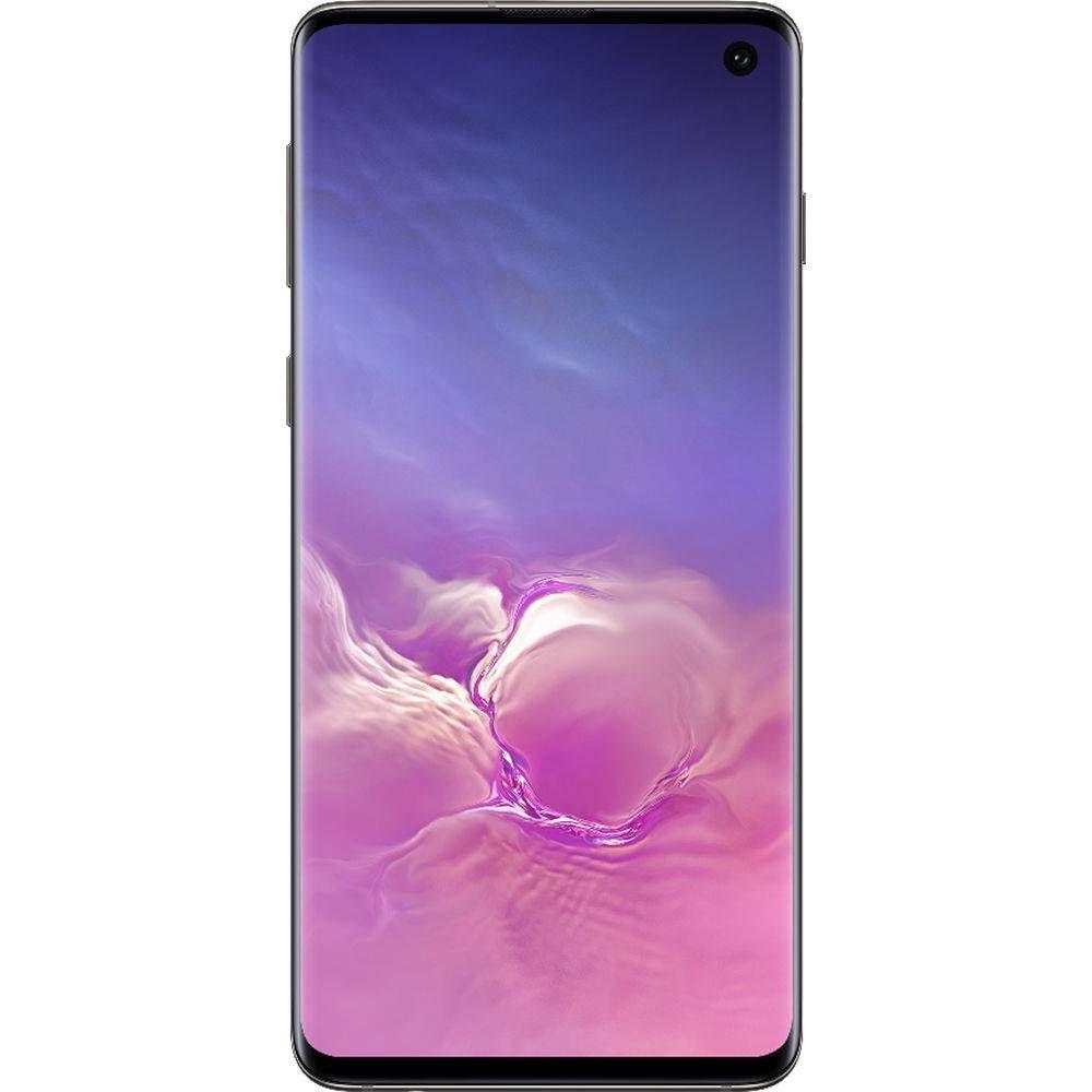 "Smartphone Samsung Galaxy S10 128GB Dual Chip 8GB Ram Android Tela 6.1"" Octa-Core 4G Câmera Tripla Traseira 12MP + 12MP + 16MP - Preto"