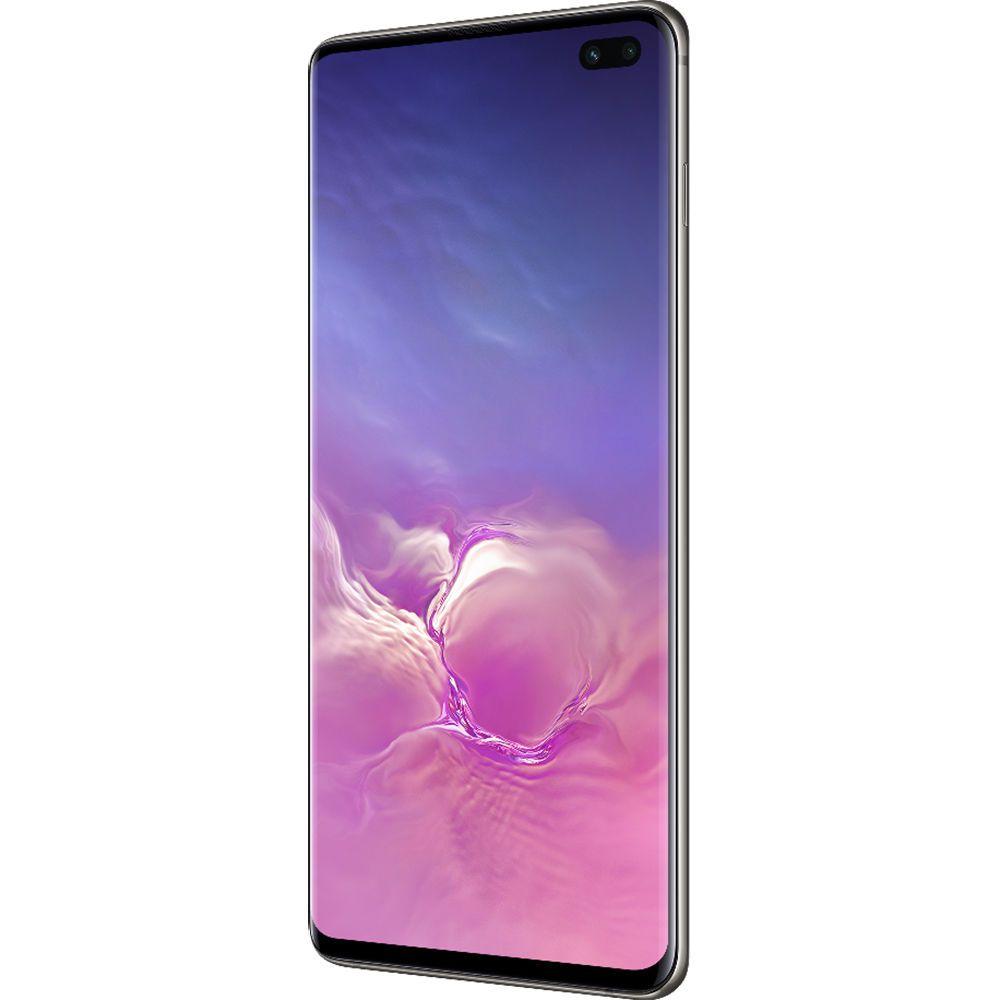 """Smartphone Samsung Galaxy S10+ 128GB Dual Chip Android 9.0 Tela 6.4"""" Octa-Core 4G Câmera Tripla Traseira 12MP + 12MP + 16MP - Preto"""