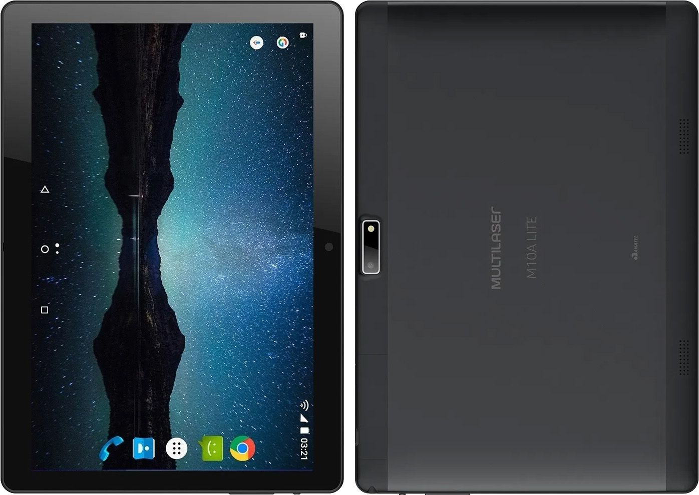 "Tablet Multilaser M10A Lite 3G 8GB 1GB RAM Tela de 10"" Quad Core Câmera de 5MP - Preto"