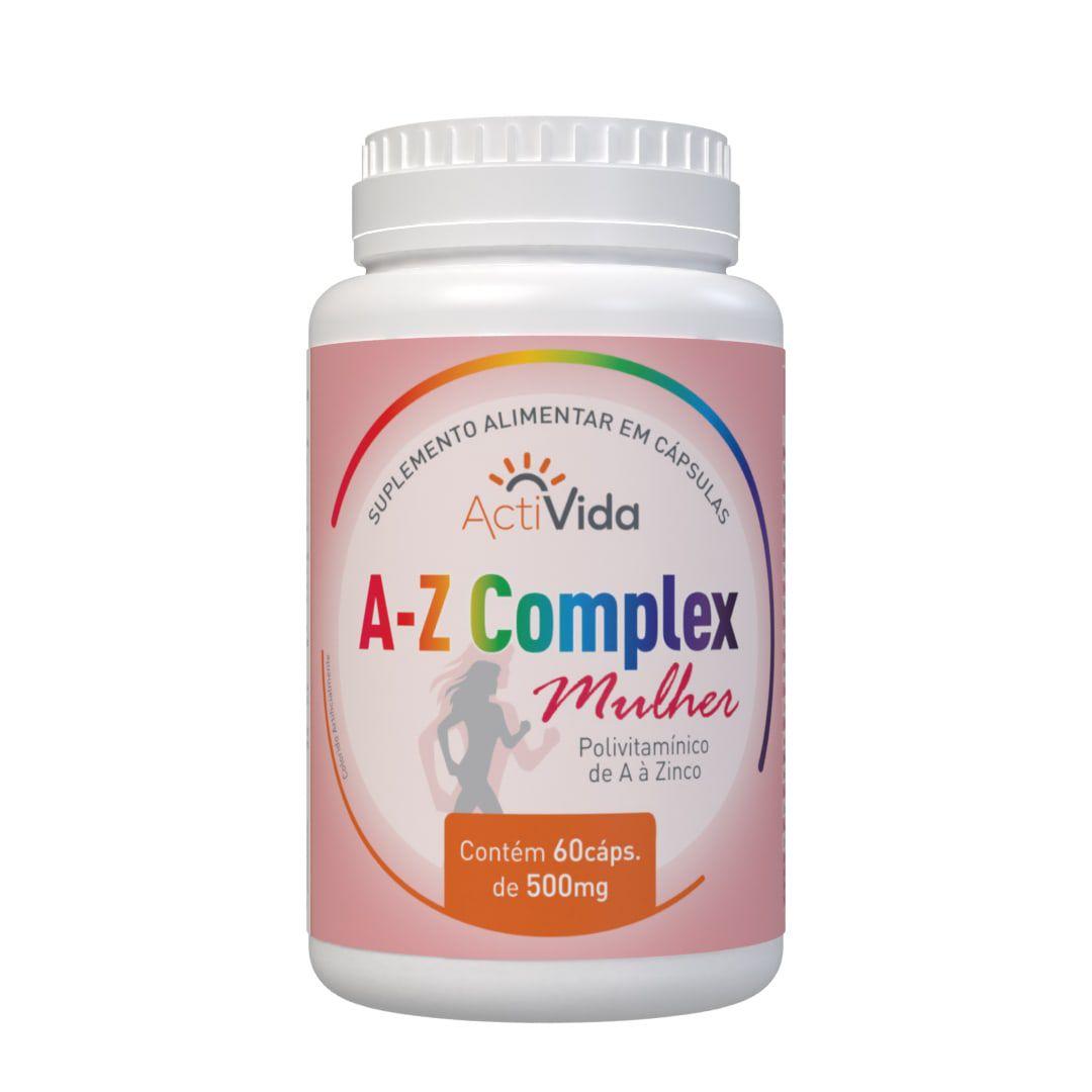 A-Z Complexo Mulher - Polivitaminico - 60 cápsulas