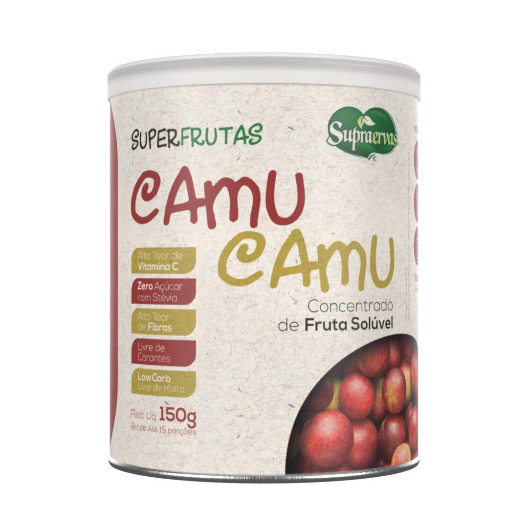 Camu Camu 150g - Alto teor de Vitamina C, Zero Açúcar, Adoçado com Stévia, Livre de Corantes