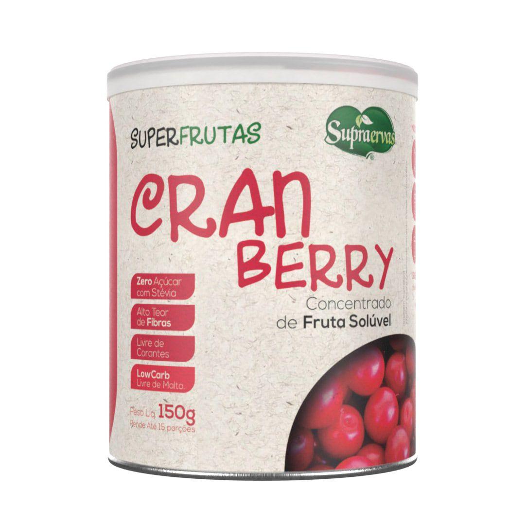 Cranberry 150g - Zero Açúcar, Adoçado com Stévia, Livre de Corantes, Low Carb