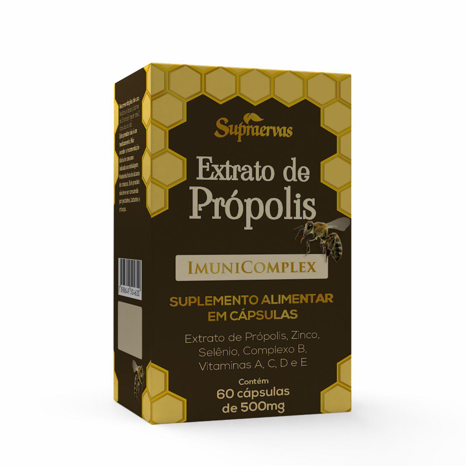 Extrato de Própolis ImuniComplex - 60 cápsulas em blister