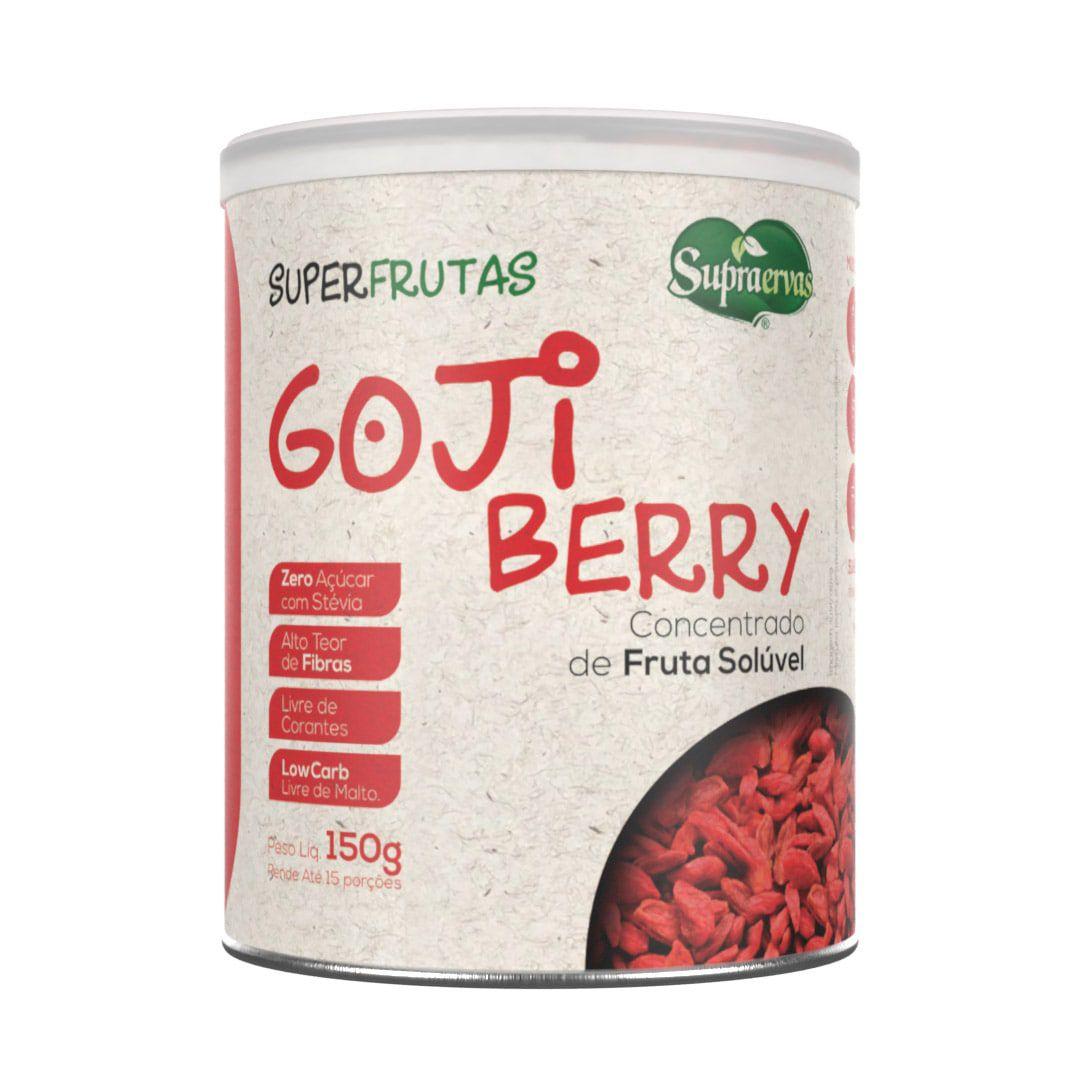 Gojiberry 150g - Zero Açúcar, Adoçado com Stévia, Livre de Corantes, Low Carb