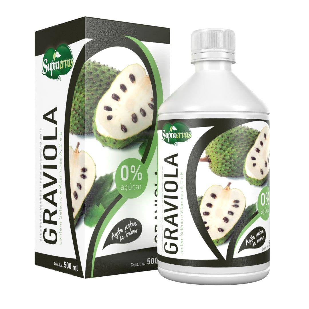 GRAVIOLA - 500ml - Suplemento de Vitaminas A, C, Ee Selênio