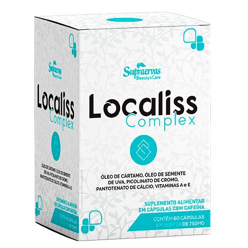 Localiss Complex - Óleo de Cártamo, Girasol, Semente de Uva, Cafeína, Vitaminas e Picolinato de Cromo.