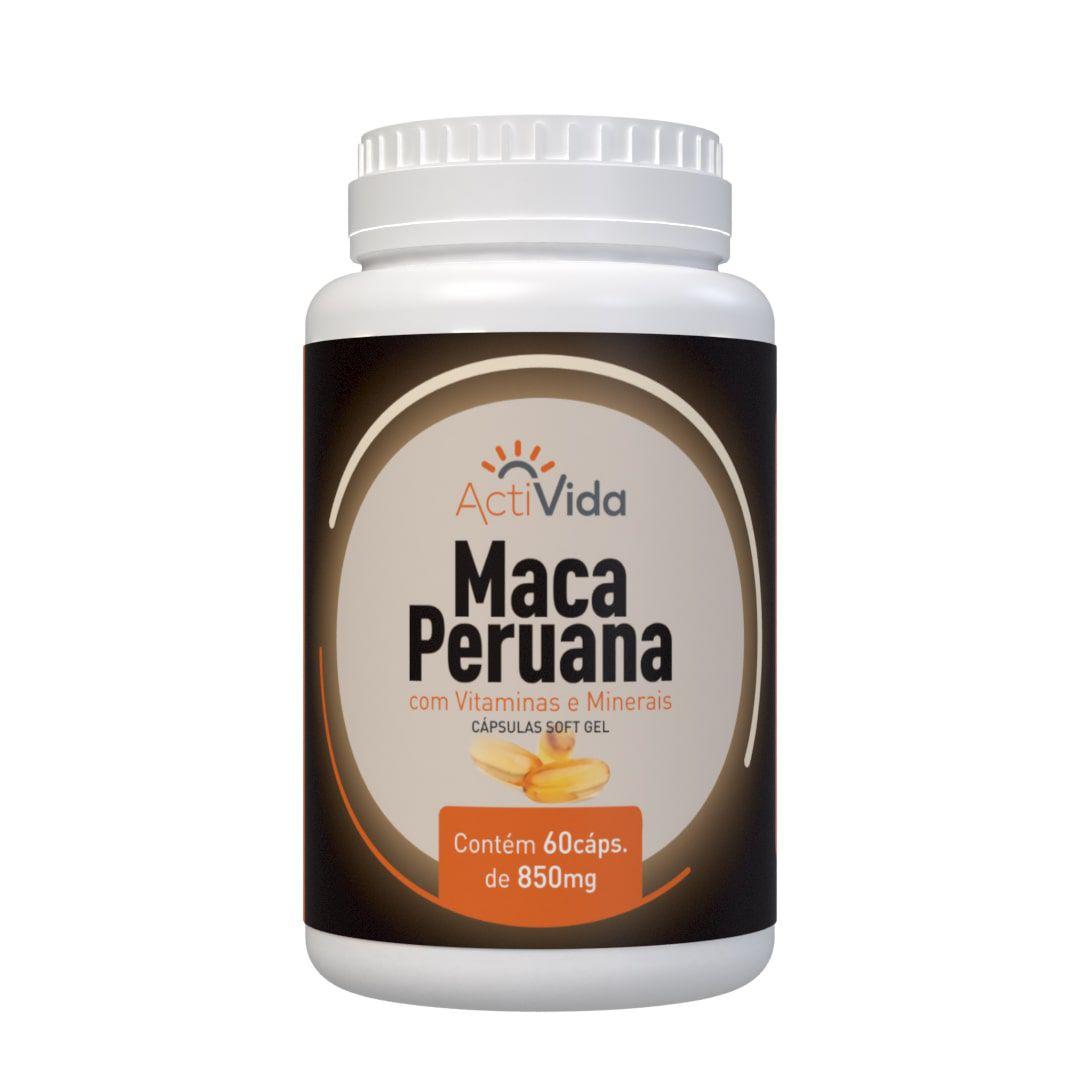 Maca Peruana - 60 cápsulas Softgel