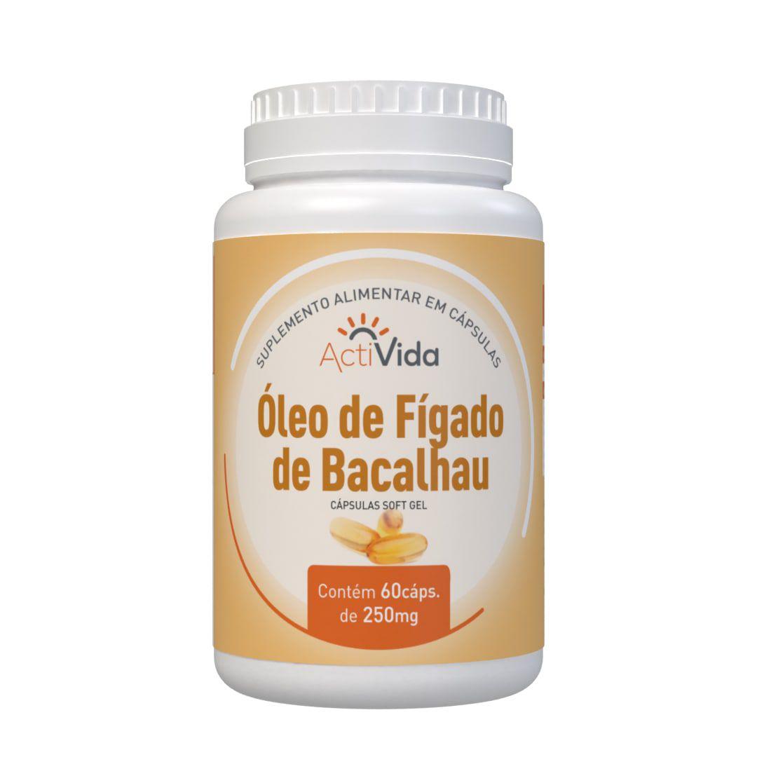 Óleo de Fígado de Bacalhau - 60 cápsulas