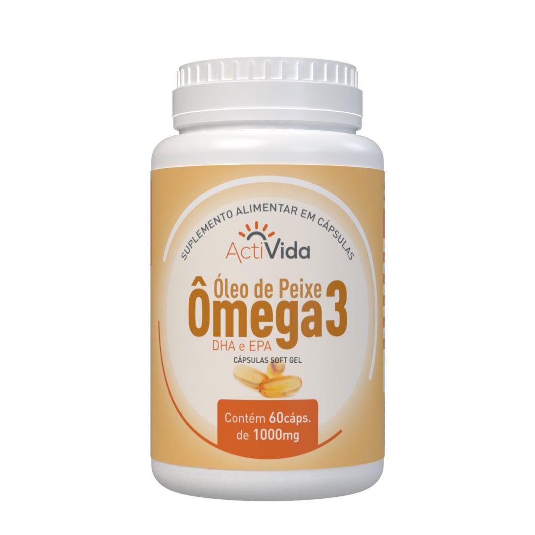 Ômega 3 - Óleo de Peixe - 60 cápsulas
