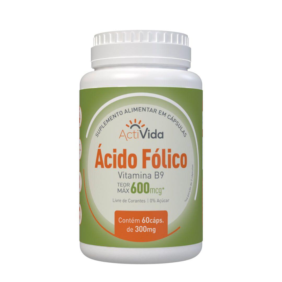 Vitamina B9 - Ácido Fólico - 60 cápsulas