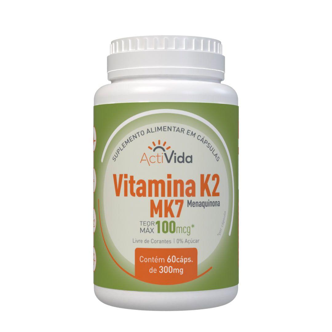 Vitamina K2 MK7 - Menaquinona- 60 cápsulas