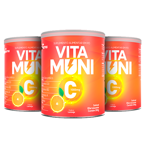 Vitamuni C - 150g - Efervescente - 3 UNIDADES