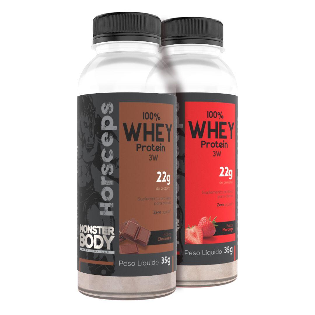 Whey Protein 100% 3W - Horsceps - Dose Única 35G - Sabor Chocolate