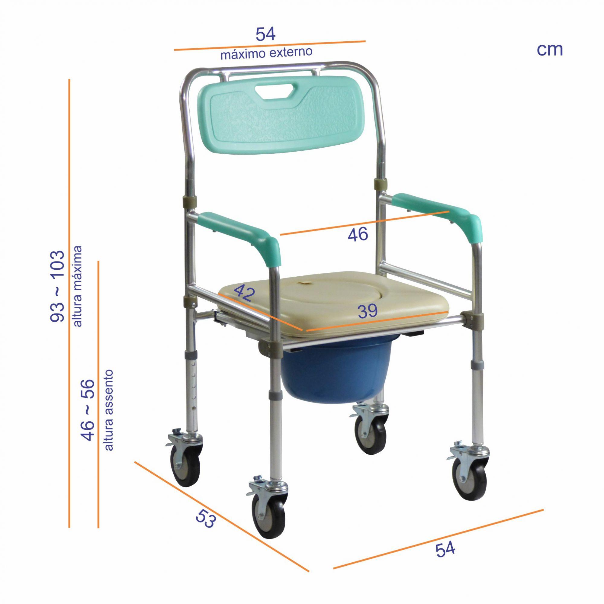 Cadeira de banho em alumínio dobrável ZIMEDICAL FST7800W