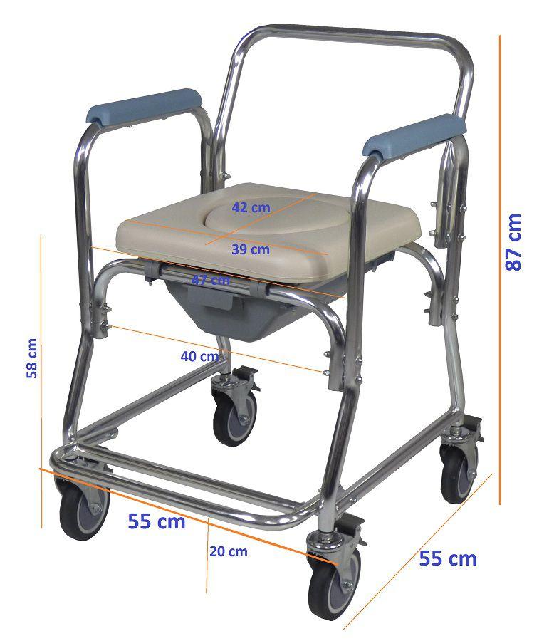 Cadeira de banho em alumínio plus ZIMEDICAL ALK699L-S
