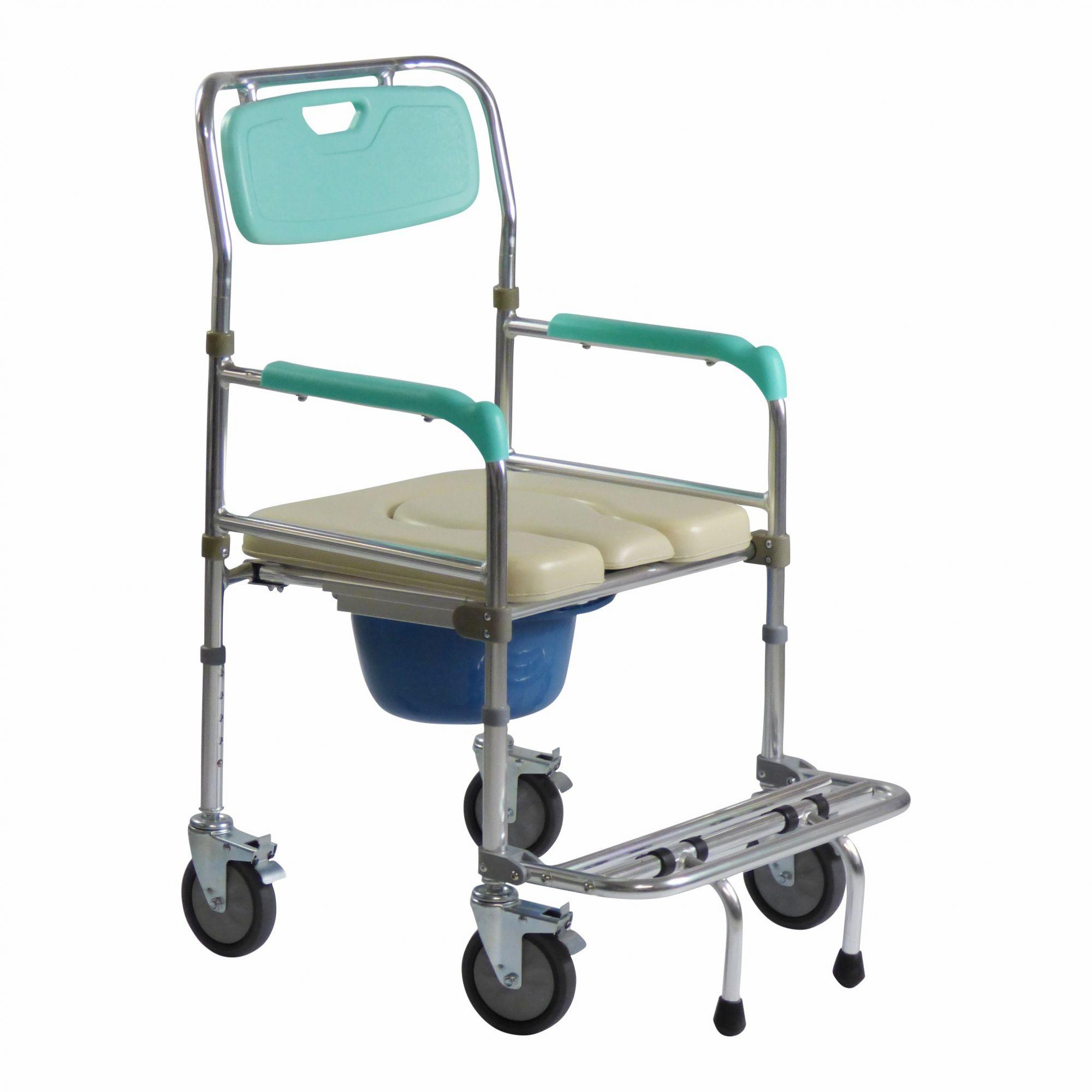 Cadeira de banho em alumínio ZIMEDICAL FST7808WT