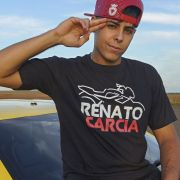 Kit Camiseta Oficial Preta Renato Garcia e Boné Renato Garcia Aba Curva Preto