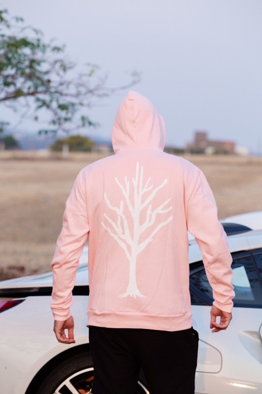 Blusa Moletom Rosa Caçadores de Lendas - Árvore Branca