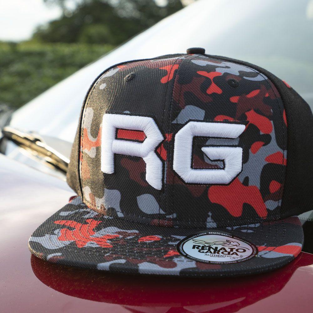 Boné Aba Reta Camuflado Vermelho RG