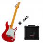 Kit Guitarra Tagima TG530 - Vermelho Metalizado + Cubo Hayonik + Cabo