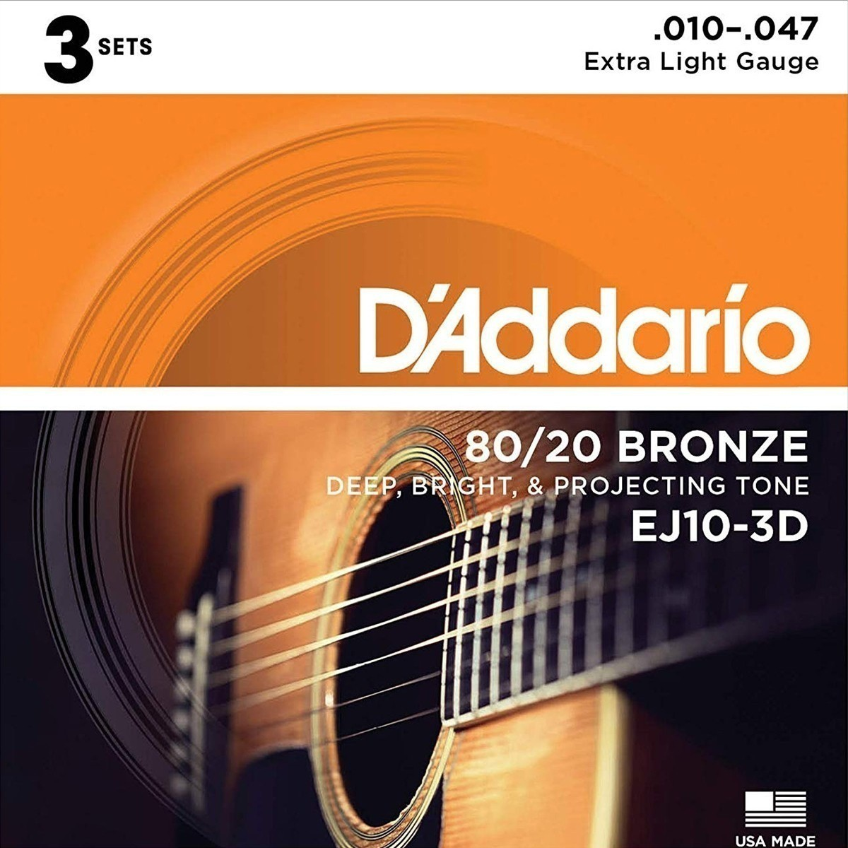 Encordoamento D'Addario 80/20 Bronze .010-.047