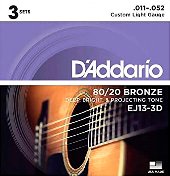Encordoamento D'Addario 80/20 Bronze .011-.052