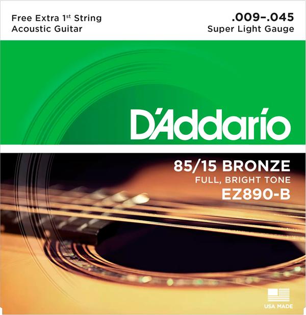 Encordoamento D'Addario 85/15 Bronze .009-.045