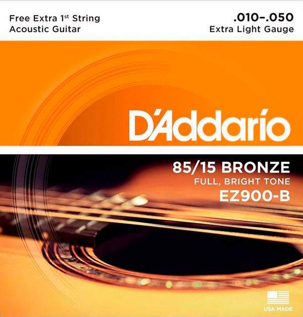 Encordoamento D'Addario 85/15 Bronze .010-.050
