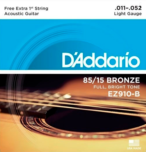 Encordoamento D'Addario 85/15 Bronze .011-.052