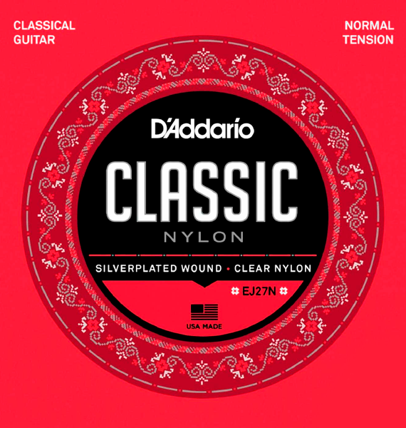 Encordoamento D'Addario Classic Nylon Tensão Normal
