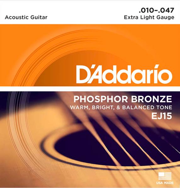 Encordoamento D'Addario Phospor Bronze .011-.052
