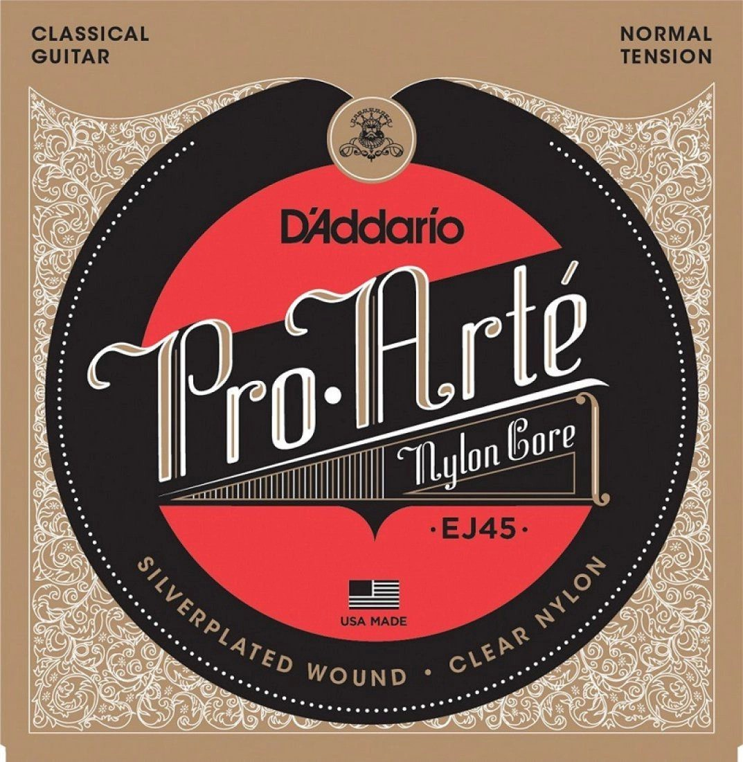 Encordoamento D'Addario Pro-Arté Nylon Core Tensão Normal