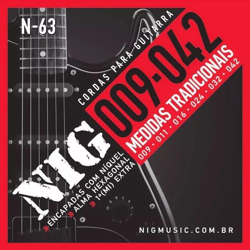 Encordoamento P/ Guitarra 09/042 Nig N-63 + Brinde
