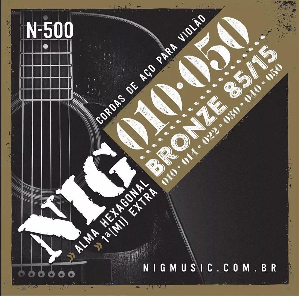 Encordoamento P/ Violão Aço NIG 010 Bronze -- Modelo N-500