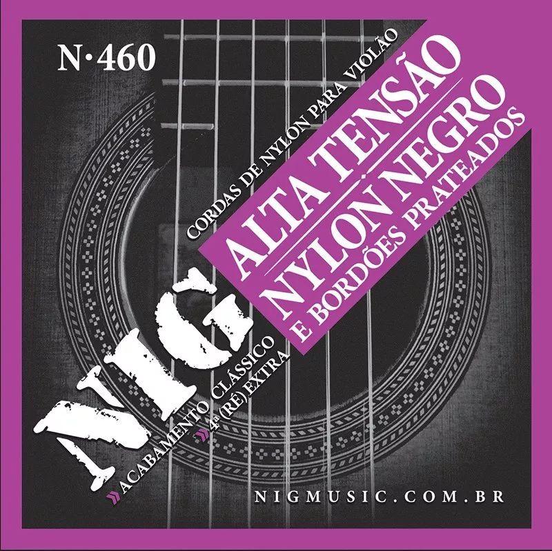 Encordoamento Violão Nylon Negro Nig N-460 Tensão Alta