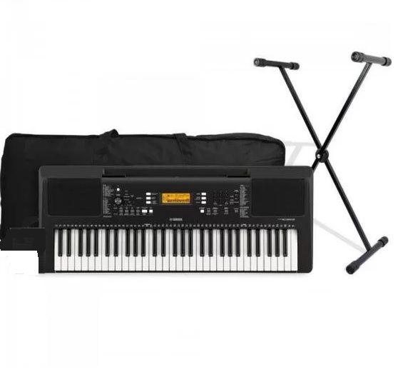 Kit Teclado Musical Yamaha Psr- E363 61teclas 5/8 Oitavas