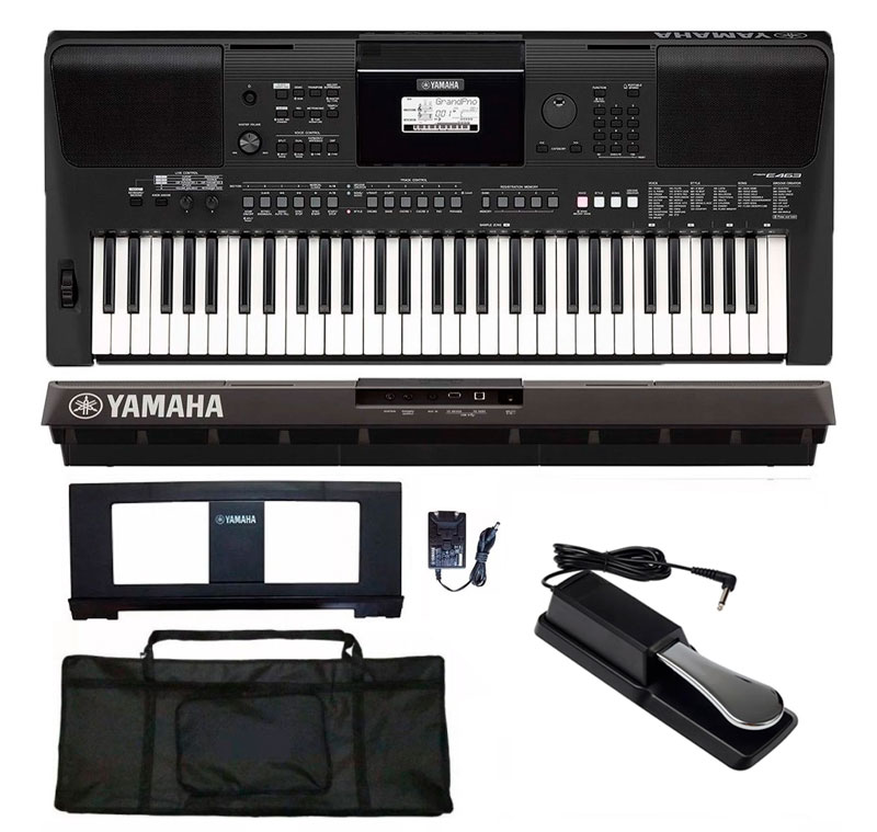 Teclado Yamaha PSR-E463 61 Teclas com Pedal Sustain + Capa