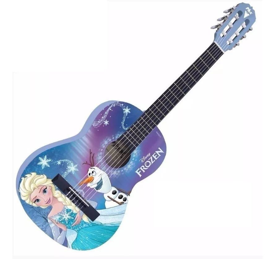 Violão Infantil Frozen Phx Disney Elsa E Olaf