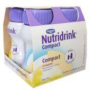 Suplemento Alimentar Nutridrink Compact Protein baunilha, 125mL, 4 unidades