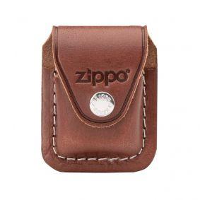 Bainha Porta-isqueiro Zippo com Clip em Couro Marrom