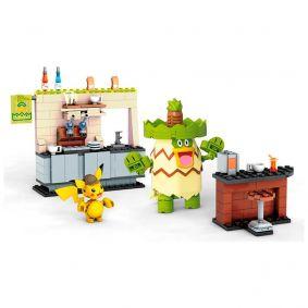 Blocos de Montar Mega Construx Detective Pikachu - Hi-Hat Café + Pikachu + Ludicolo | Mattel