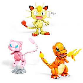 Blocos de Montar Mega Construx Pokémon - Charmander + Mew + Meowth | Mattel