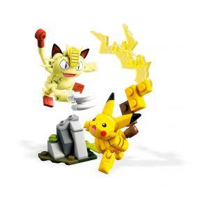 Blocos de Montar Mega Construx Pokémon - Pikachu e Meowth Combate | Mattel