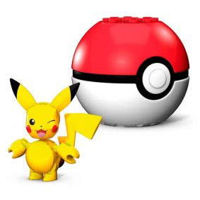 Blocos de Montar Mega Construx Pokémon - Pikachu + Poké Bola | Mattel