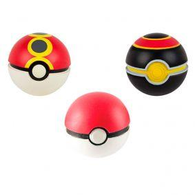 Bola Macia Pokémon Throw N' Catch - Pokébola + Bola Repetição + Bola Luxo | TOMY/Sunny