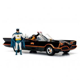 Boneco Metals Die Cast 1:24 - Batmobile (Classic TV Series) com Figura Batman | Jada/DC