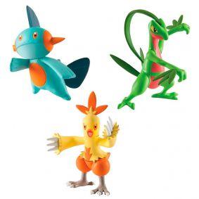 "Boneco Pokémon Action Figure 2"" - Grovyle, Combusken e Marshtomp | TOMY/Sunny"